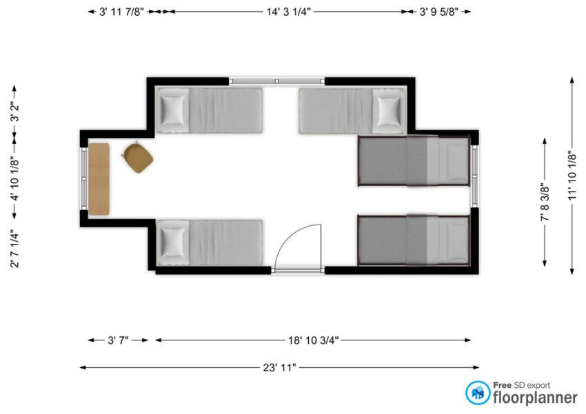 Arbutus Room floor plan